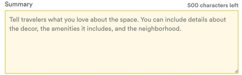 airbnb summary