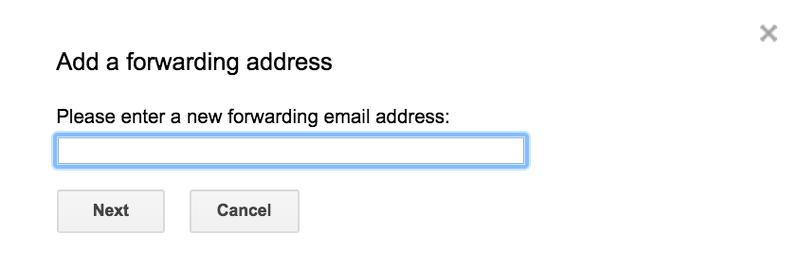 add forwarding address