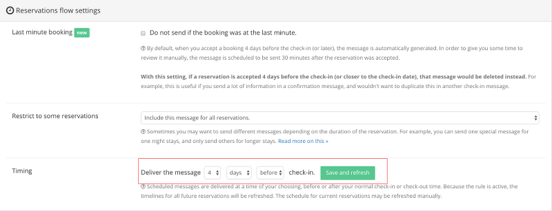 Smartbnb message scheduling