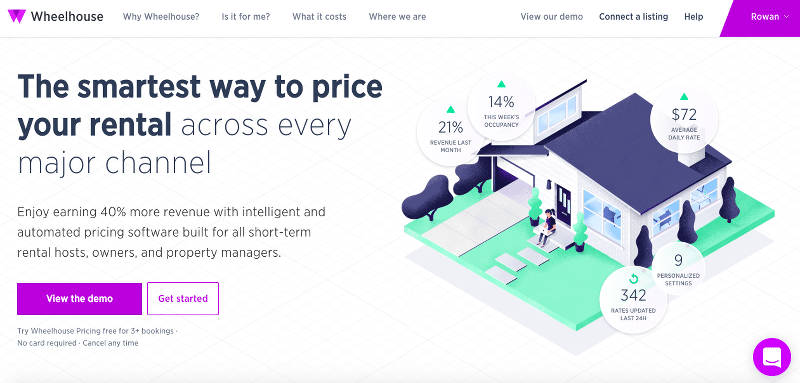Wheelhouse airbnb pricing welcome page