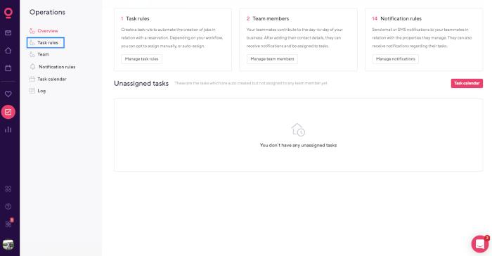 Task rules Smartbnb