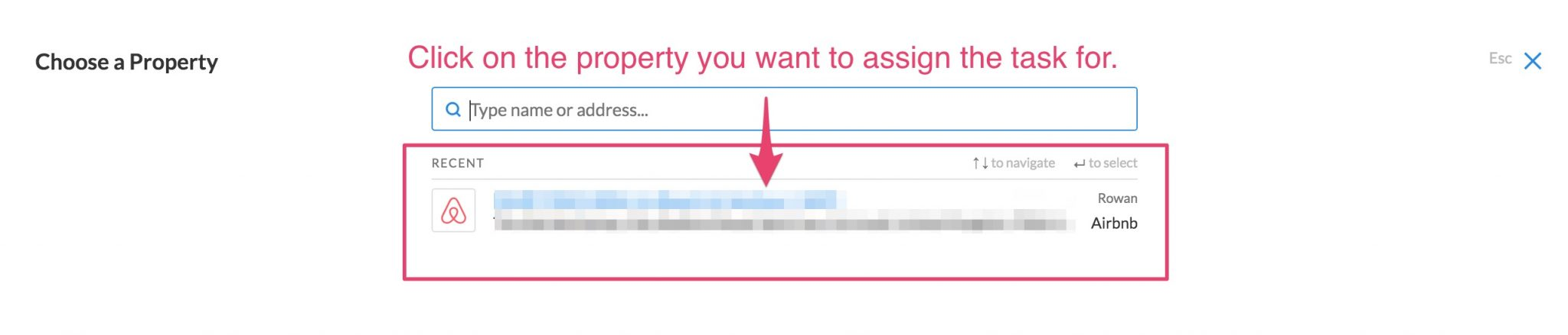 assign task to a property IGMS