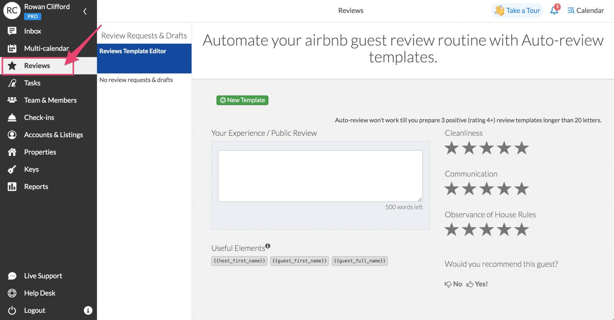 how to automate reviews on igms