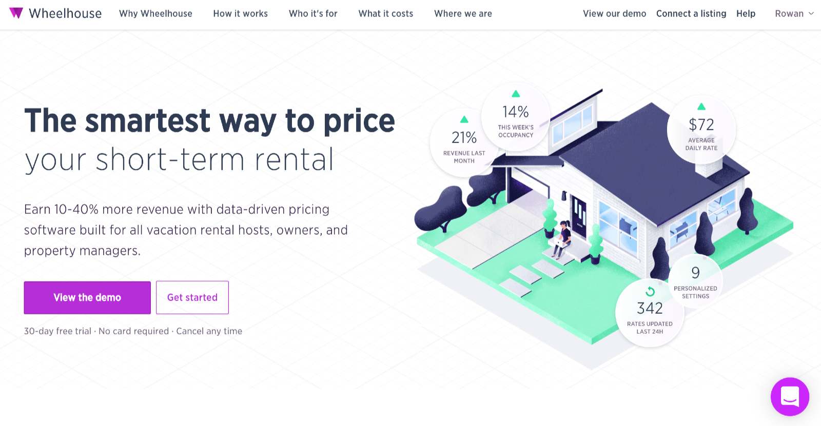 Wheelhouse dynamic pricing tool for airbnb