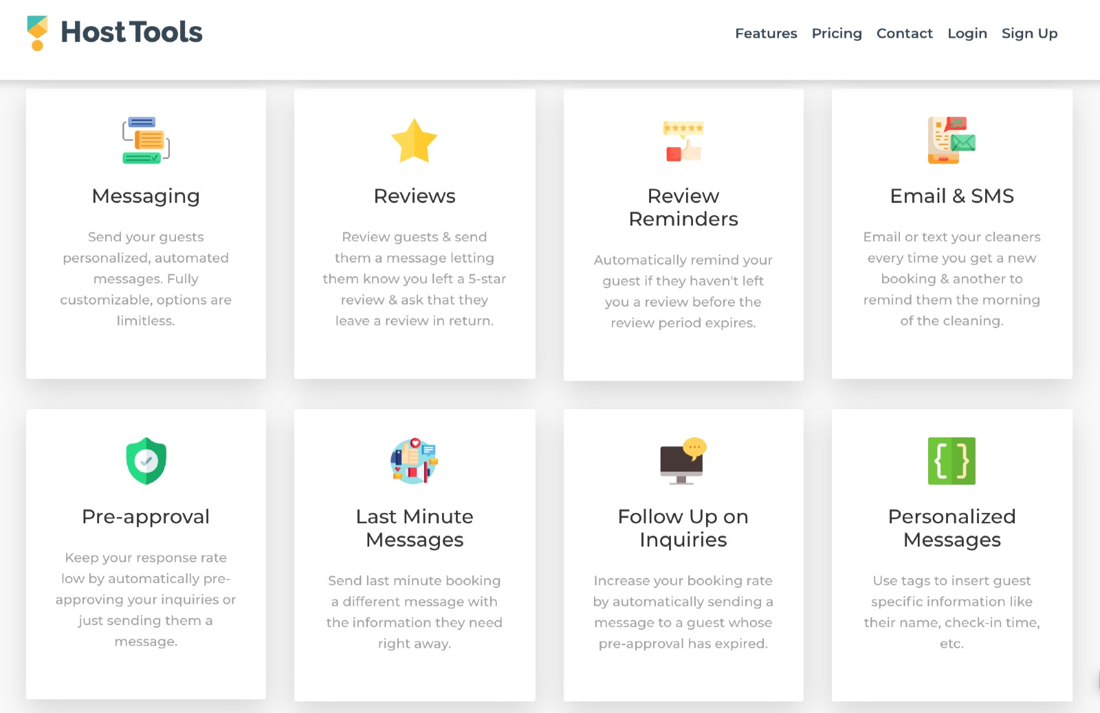Host Tools automated airbnb messaging