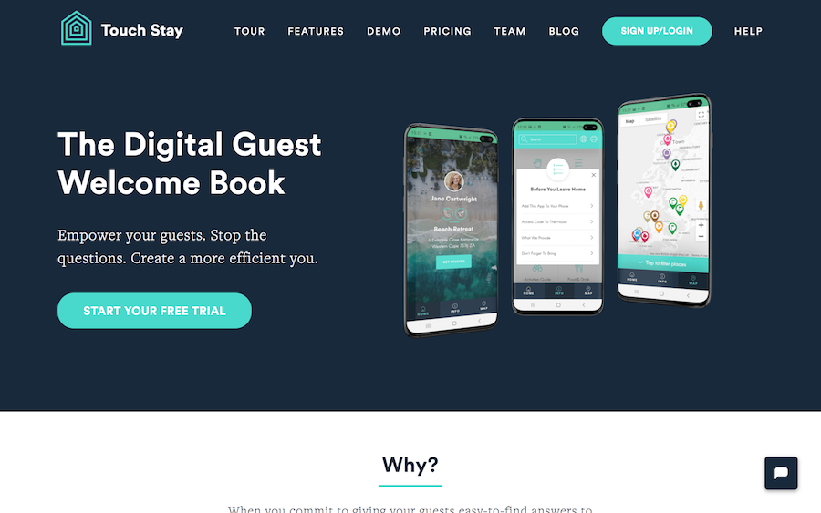 Touch Stay digital guidebook